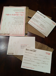 diy wedding inviations country theme mad lib response card burlap kraft envelope