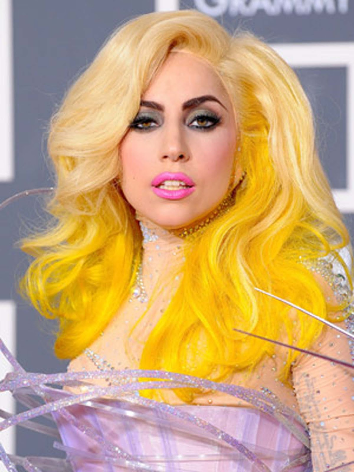 Blonde Curly Hairstyle for Short Hair: Lady Gaga Hair Styles
