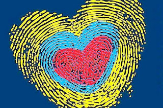 Huella con forma de corazon