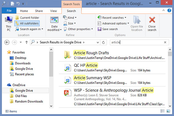Để tìm kiếm tốt hơn và nhanh hơn trên Windows 8.1 8