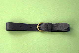leather with brass buckles stuffies belt