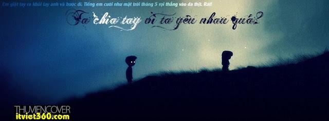 Ảnh bìa cho Facebook mưa | Cover FB timeline rain, ta chia tay vì ta yêu nhau quá