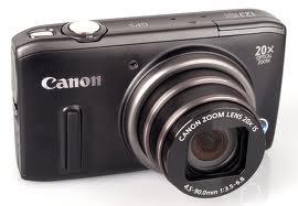 Máquina Fotográfica Canon PowerShot perfil esquerdo