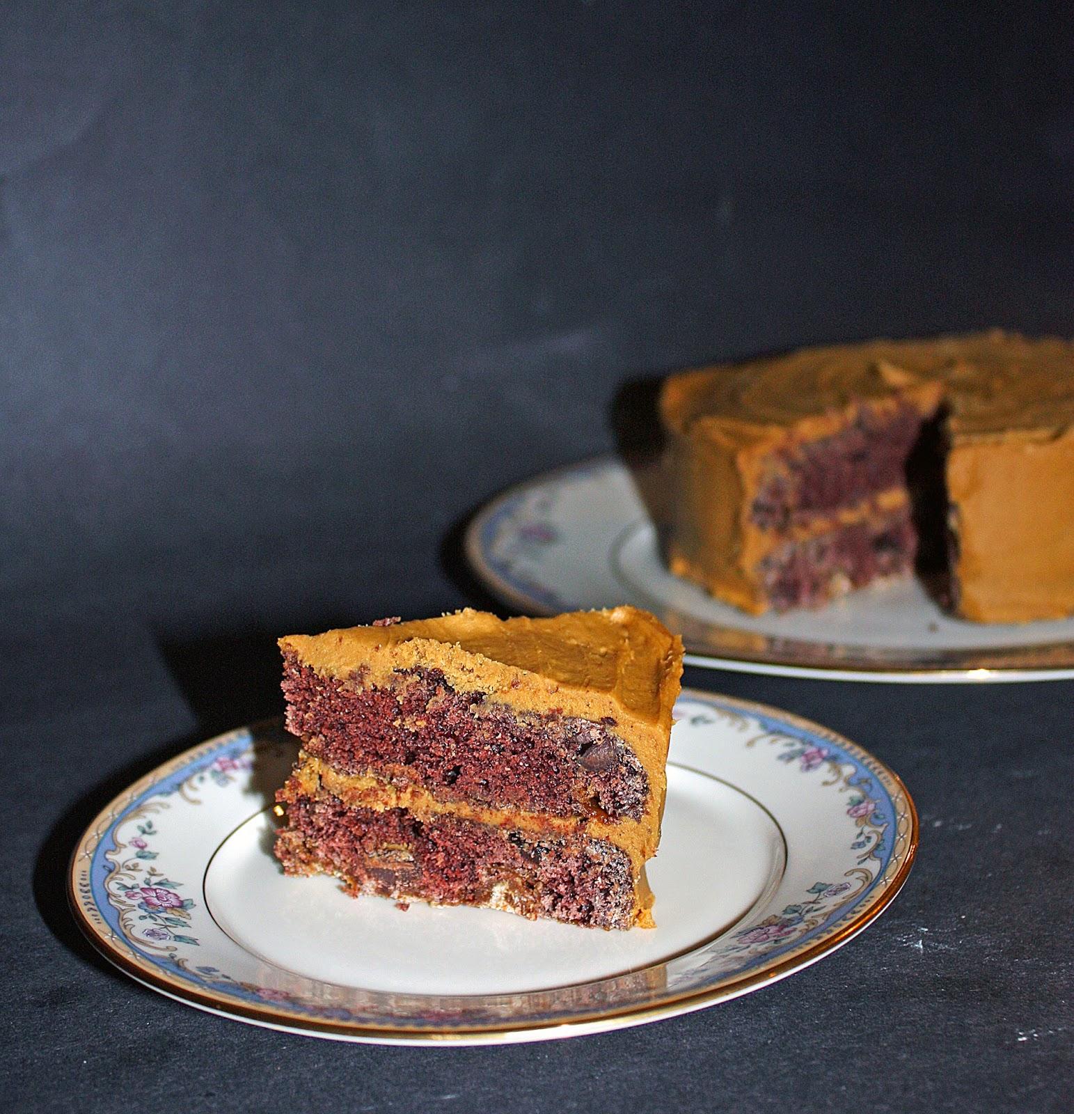 mini gingerbread chocolate layer cake