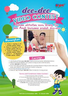 Info Kontes - Kontes Video Dee Dee Berhadiah Total 7,5 Juta