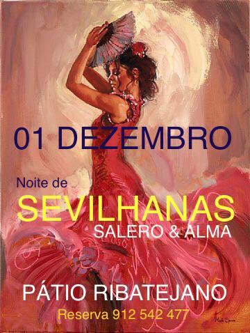 SANTARÉM 01-12-2018. NOITE DE SEVILLANAS NO REST PÁTIO RIBATEJANO.
