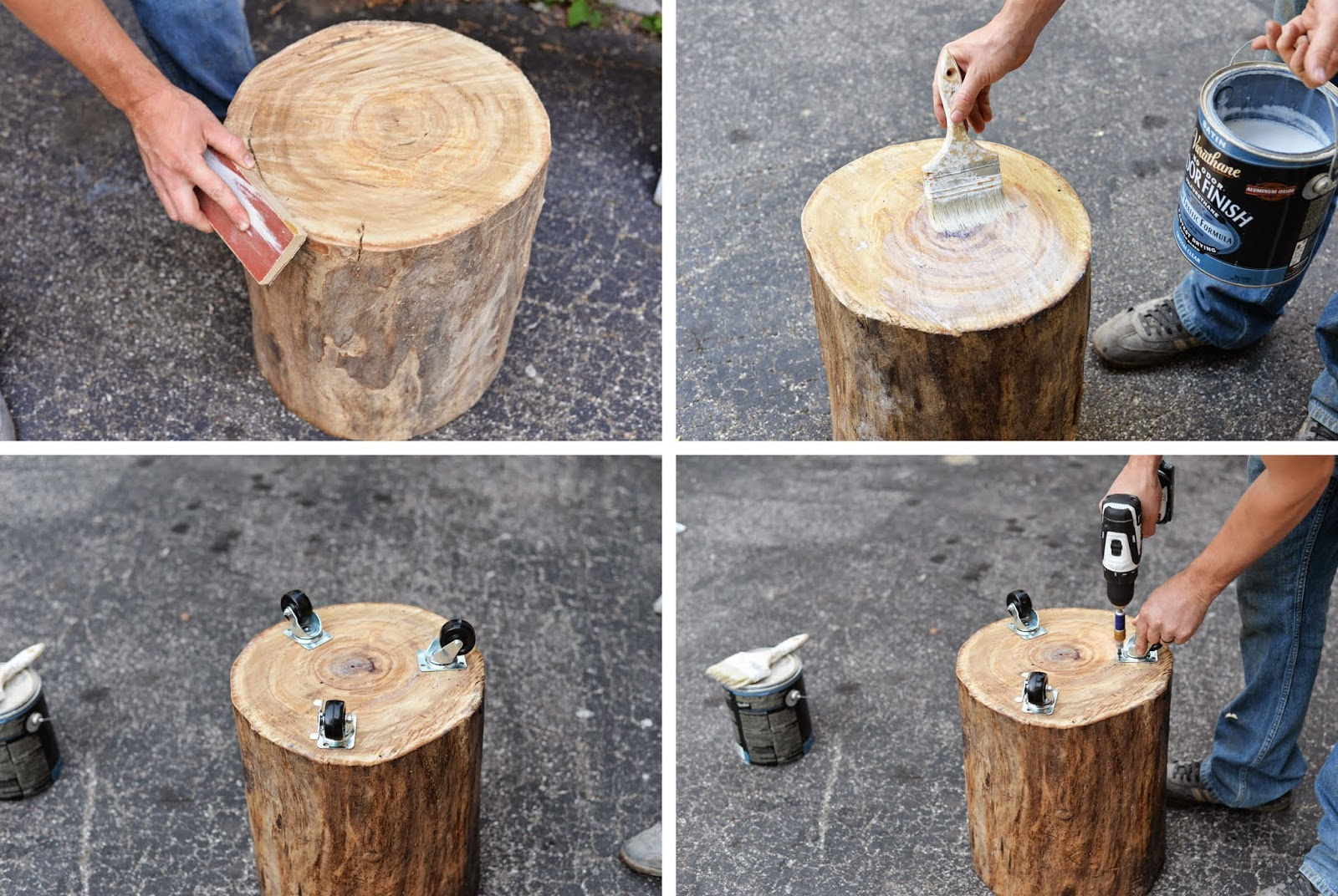 DIY Tree Stump Side Table Do It Yourself Ideas And Projects