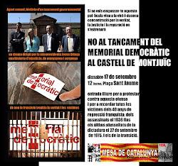 VINT-I-DOSENA CONCENTRACIÓ VERITAT, JUSTÍCIA I REPARACIÓ. NO AL MEMORIAL AL CASTELL.