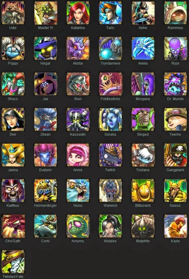 old Champion list