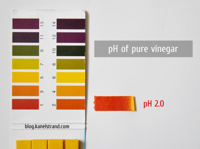 pH of pure apple cider vinegar