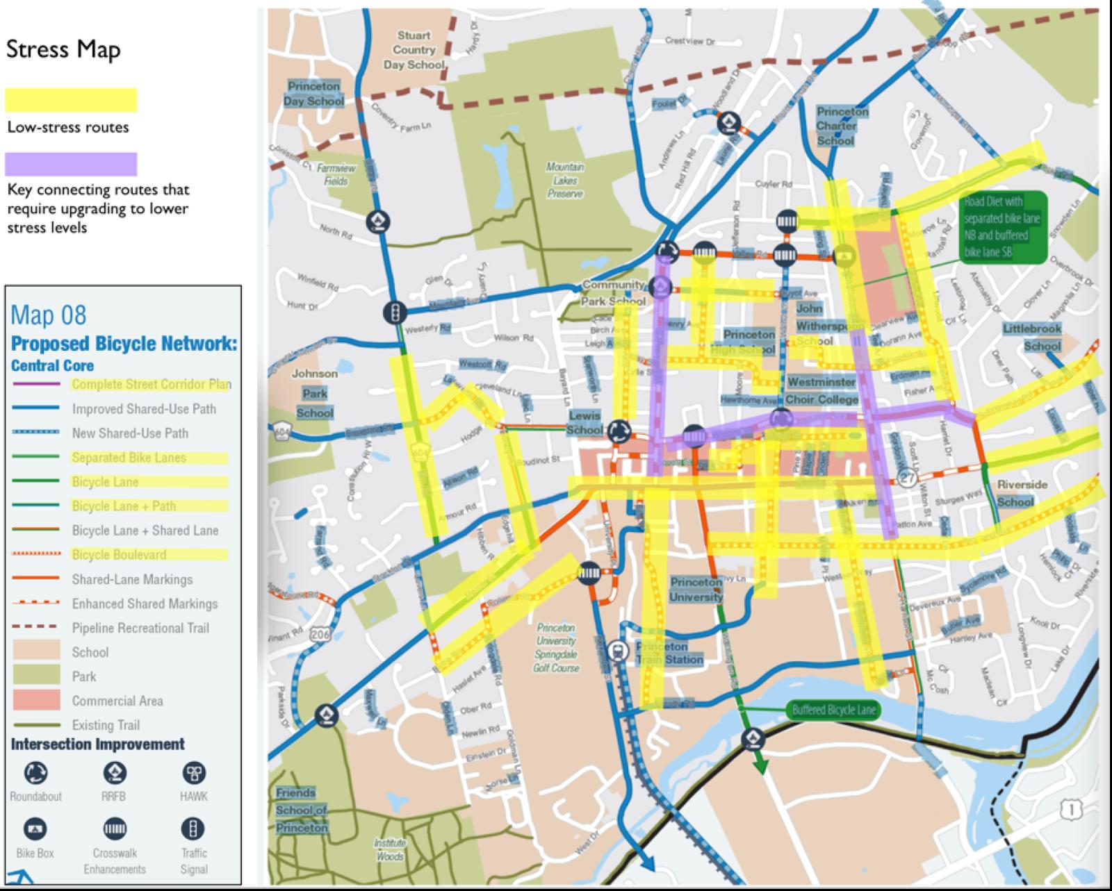 Downtown Princeton Map on