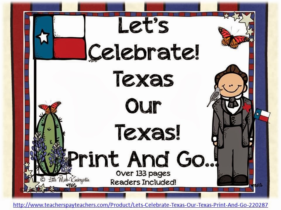 http://www.teacherspayteachers.com/Product/Lets-Celebrate-Texas-Our-Texas-Print-And-Go-220287