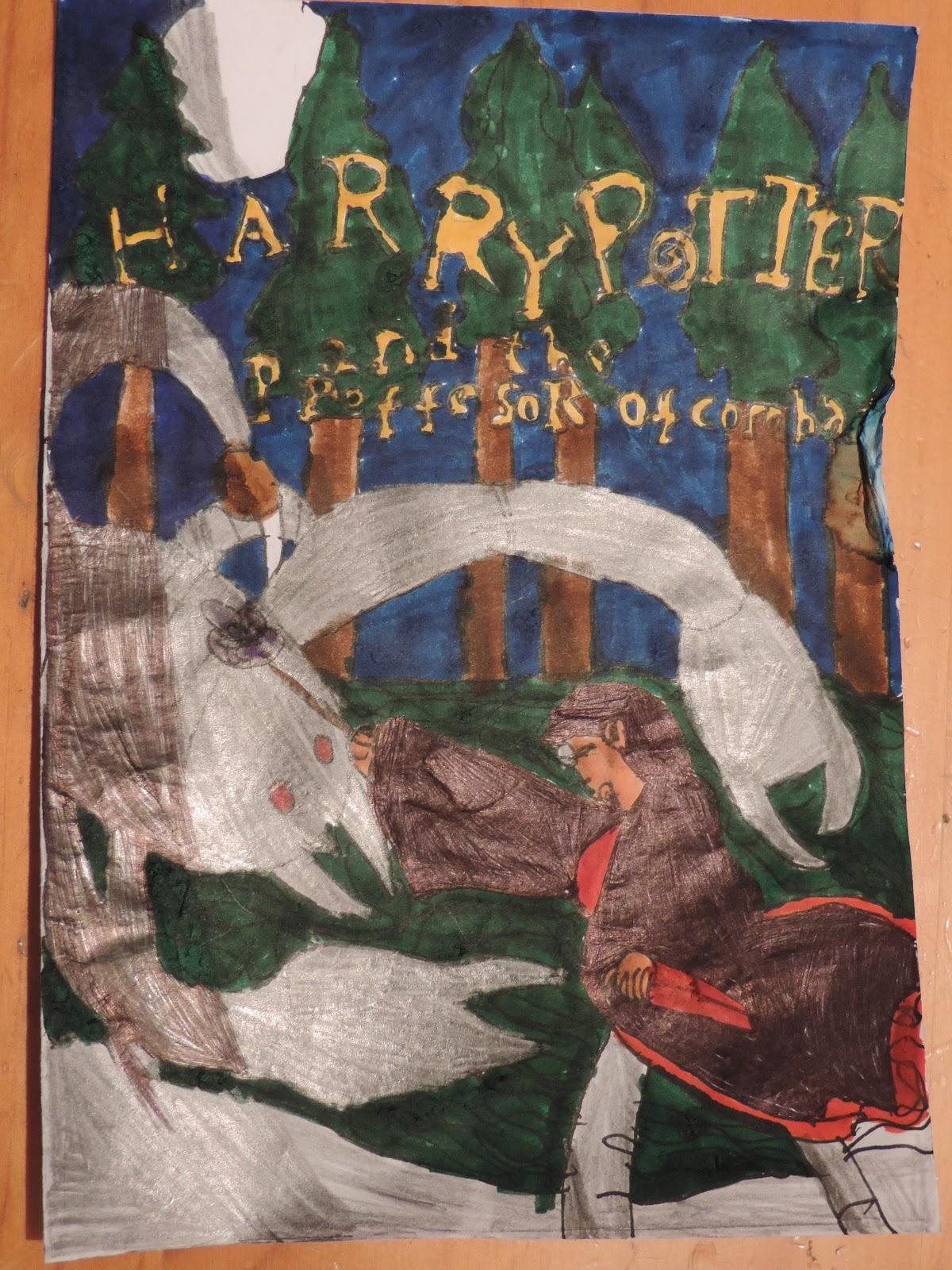 home made harry potter book