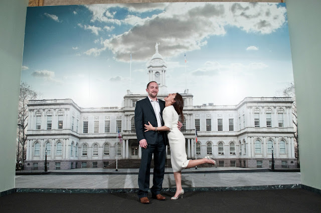 City Hall NYC Real Romance backdrop