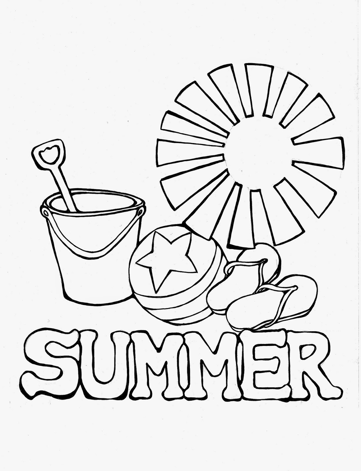 Free A Summer Day Coloring Pages
