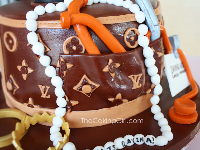 louis vuitton purse cake with high heels