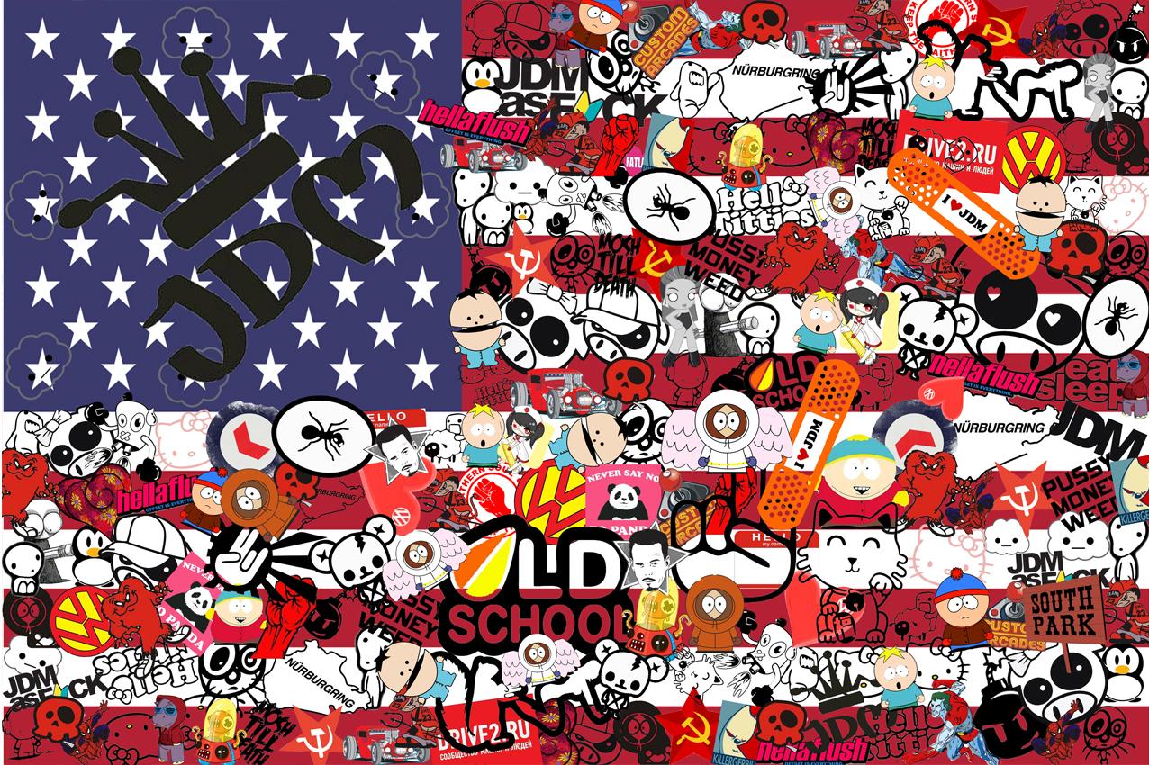 Sticker Bomb Wallpaper Drift The Image