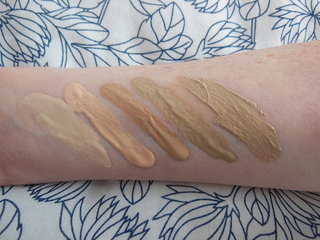 BB cream swatches