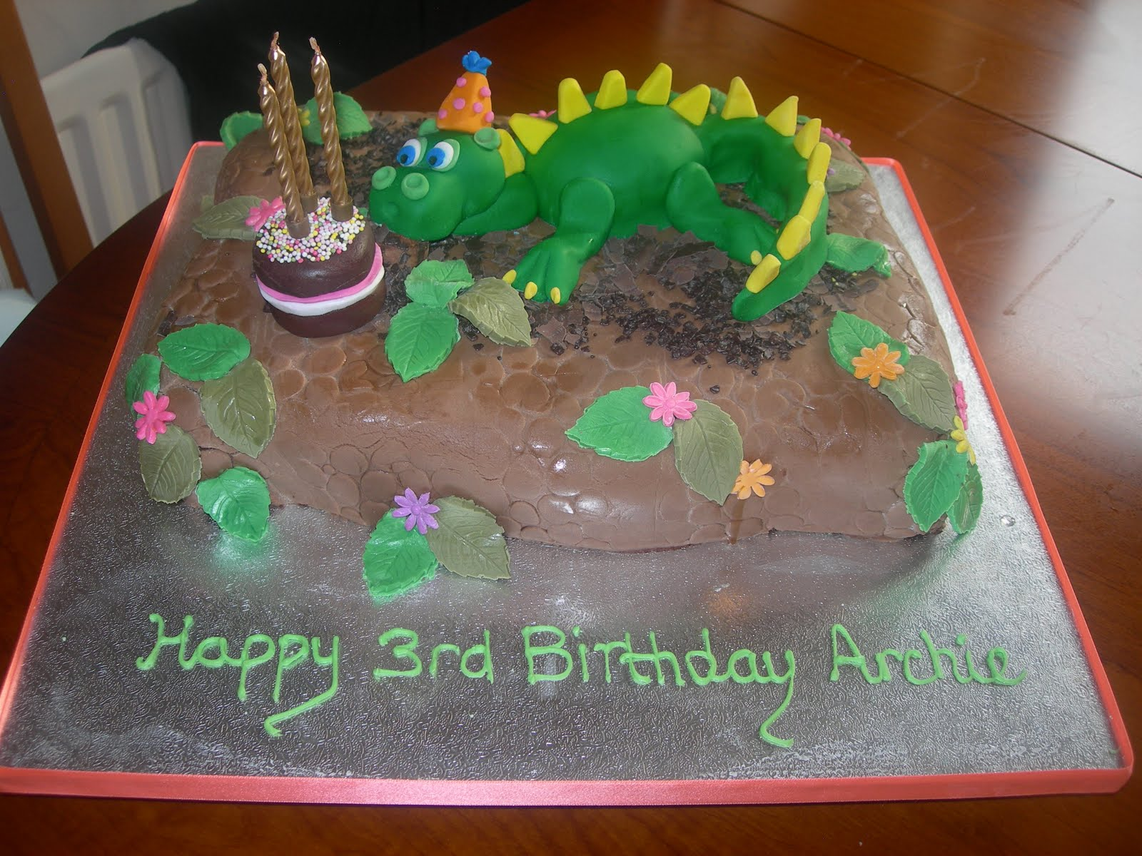 Custom Cake Design: Dinosaur Cake