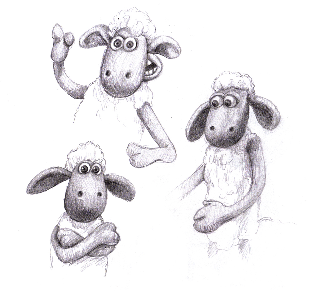 Shaun The Sheep Sketches