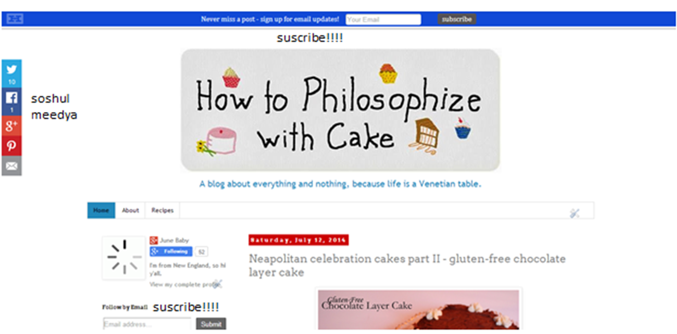 how to philosophize with cake social media subscribe