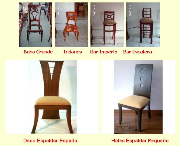 Sillas para el comedor modelos de sillas para comedor for Catalogo de sillas para comedor