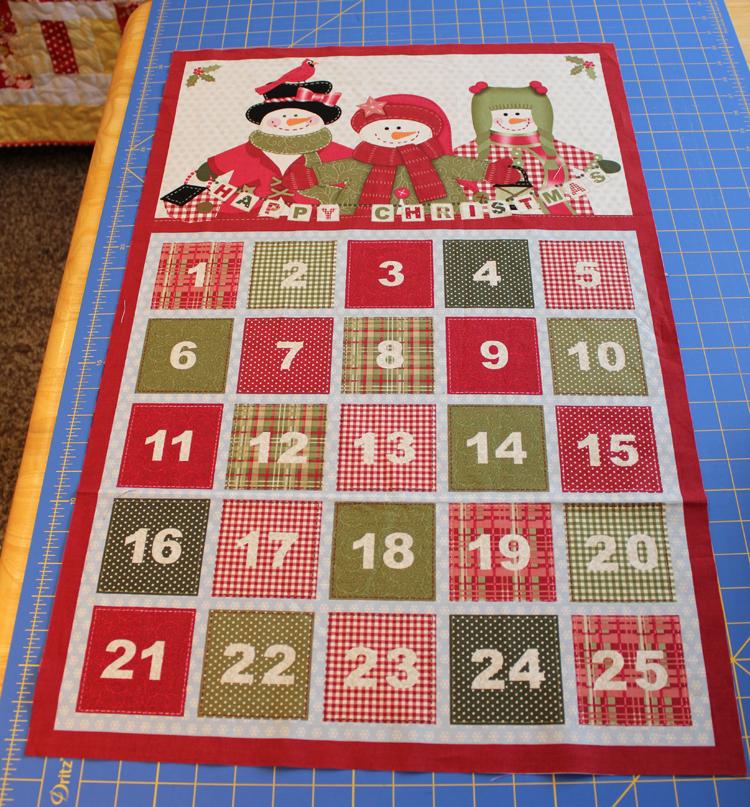 Fabric Mill Advent Calendar Panel Tutorial