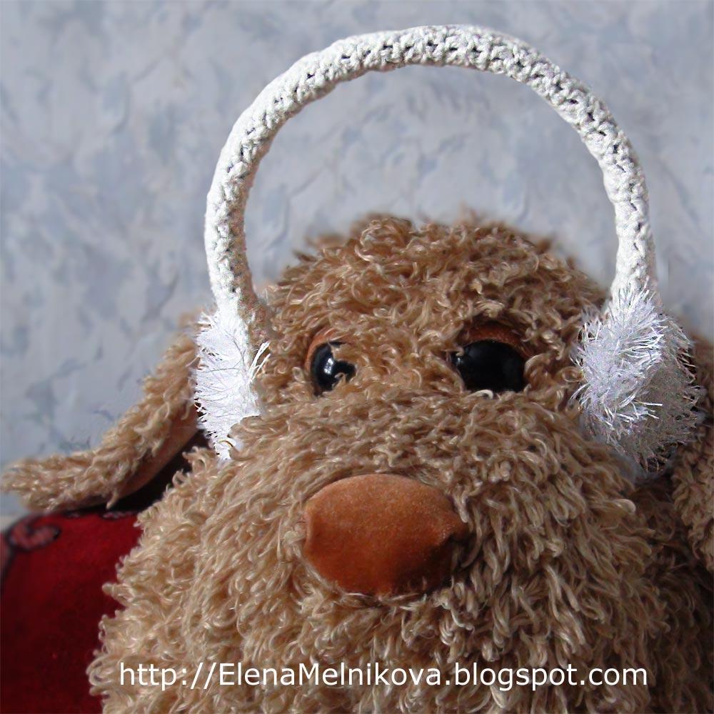 """""""Часть 1. Эротический подарок...  Очень полезный, теплый и подробный МК вязания тёплых наушников."""