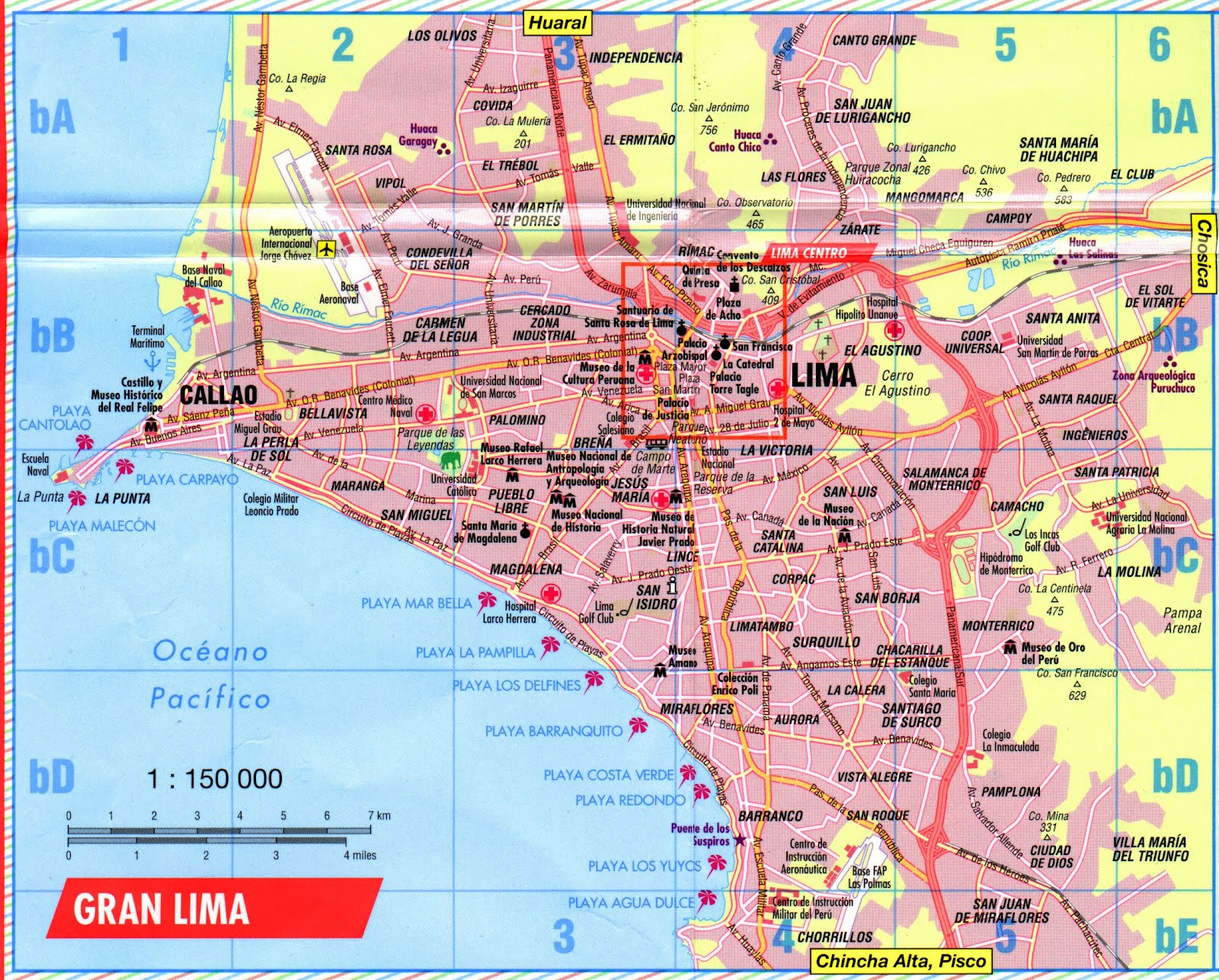 Lima Peru Attractions Map – Tourist Map Of Peru