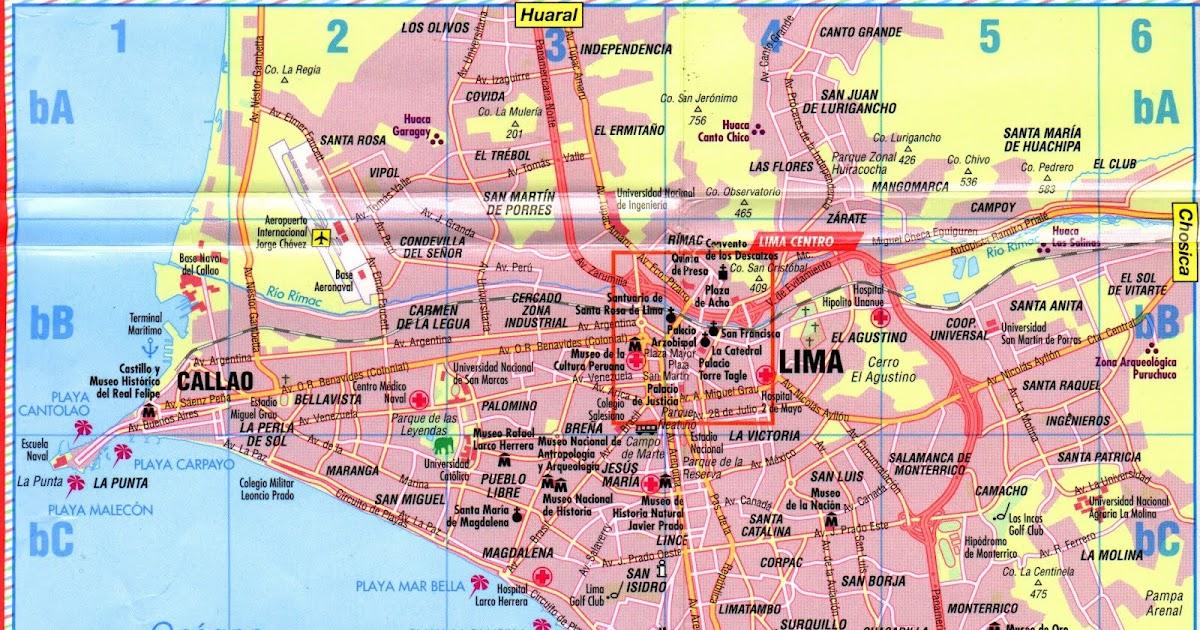 map of lima peru free printable maps