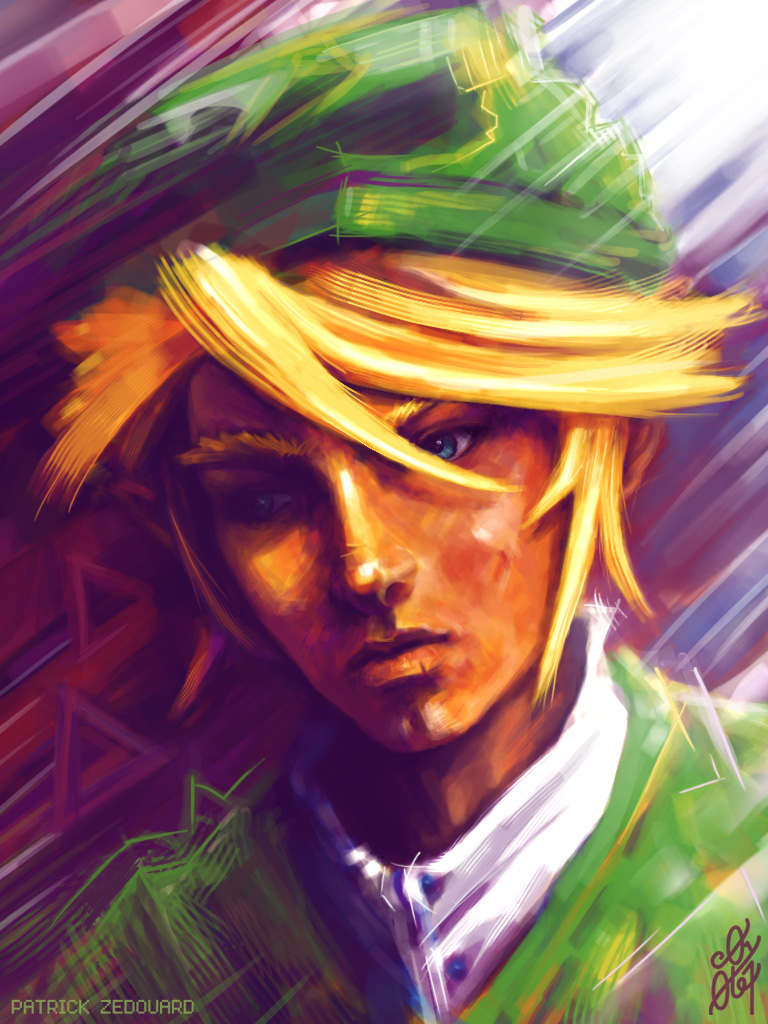 Portrait digital de Link - the Legend of Zelda Shigeru - Miyamoto - Eiji Aonuma - Nintendo