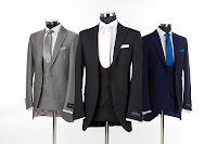 slim fit wedding suit hire, three piece wedding suit from jack bunneys