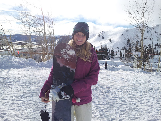 Brittany Sutphen and snowboard!