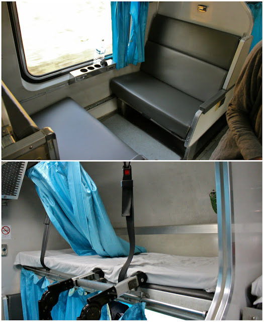beds in overnight train in thailand