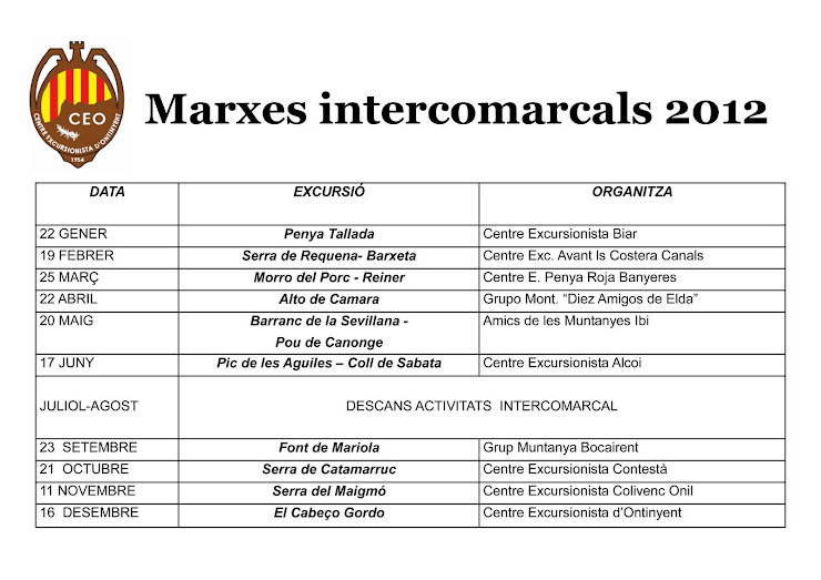 CALENDARI MARXES INTERCOMARCALS_2012