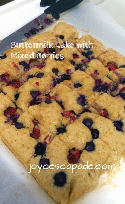 Buttermilk Cake with Mixed Berries (Bobby Flay) - Joy 'N' Escapade
