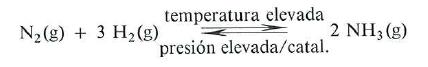reaccion del hidrogeno con nitrogeno