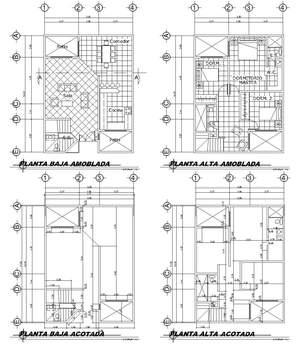 Dibujo tecnico planta de cotas for Normas para planos arquitectonicos