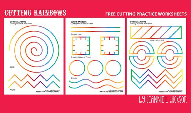 Honeybops Cutting Rainbows Free Cutting Practice Worksheets
