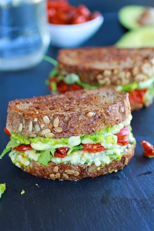... File: Blue Cheese Smashed Avocado and Roasted Tomato Grilled Cheese