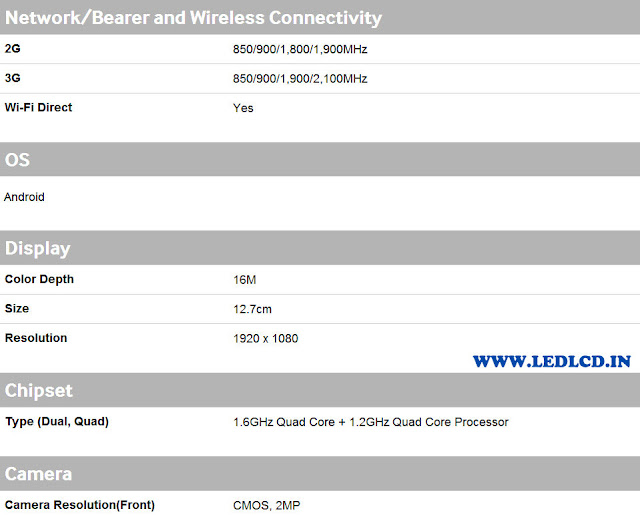 Samsung Galaxy S4 i9500 Specifications