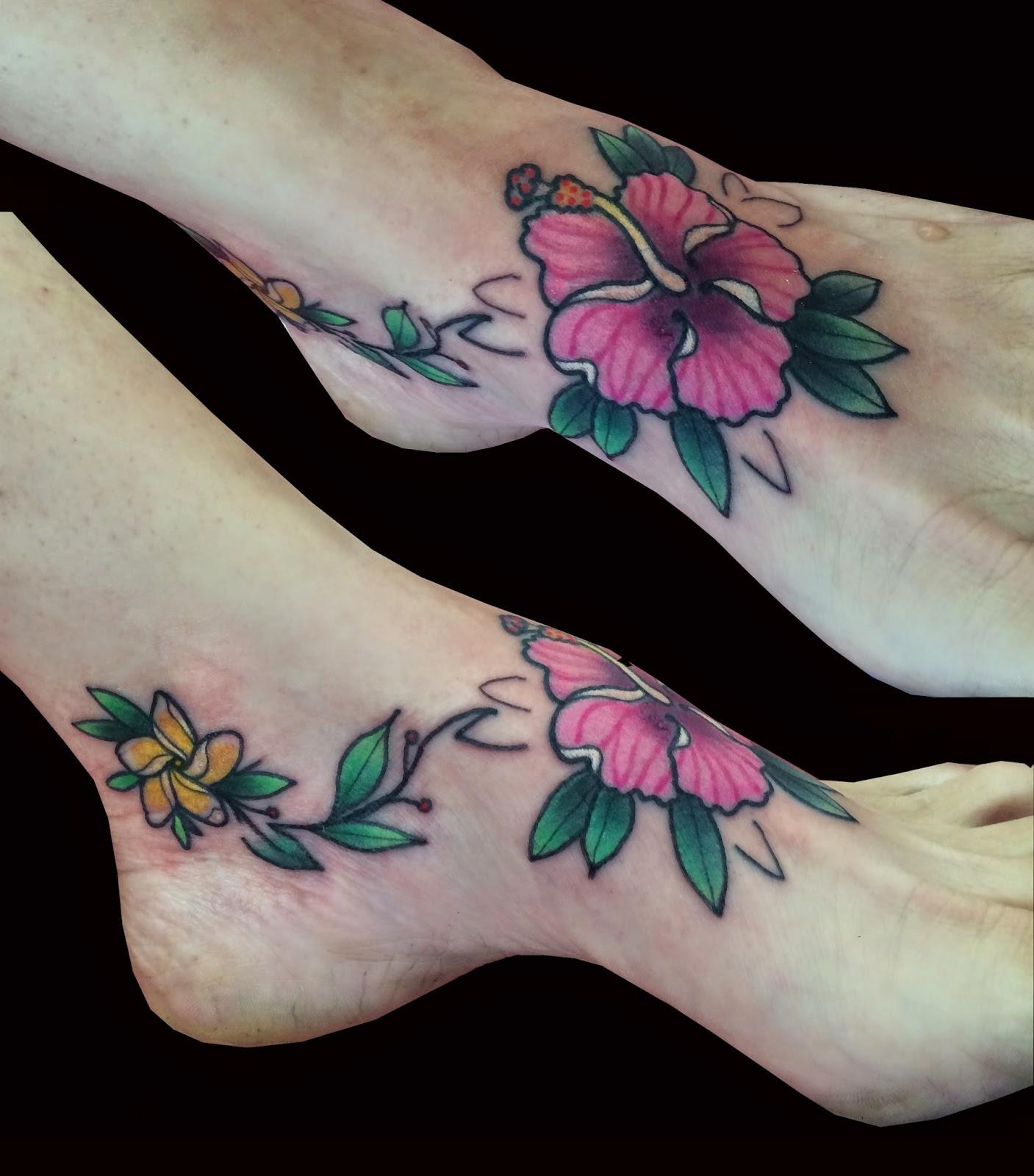 Sweet trade tattoo maui hibiscus plumeria on foot hibiscus plumeria on foot izmirmasajfo