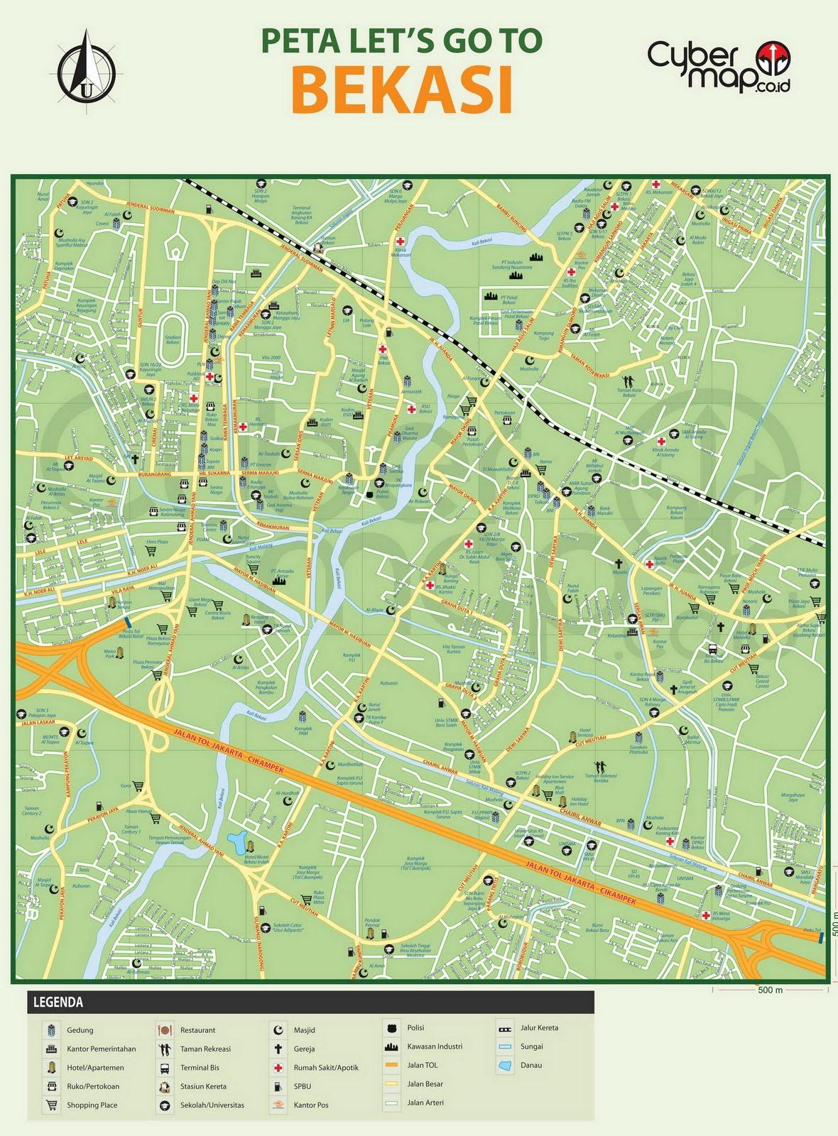 Peta Kota Bekasi | Malioboro