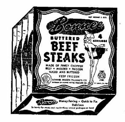 explanation of band name Throbbing Gristle - Bonnee Buttered Beef Steaks