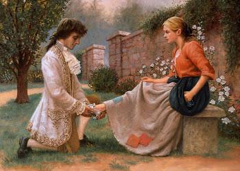 Si amor es el bien deseado en dulces sueños llegará. No importa quién borre el camino marcado está
