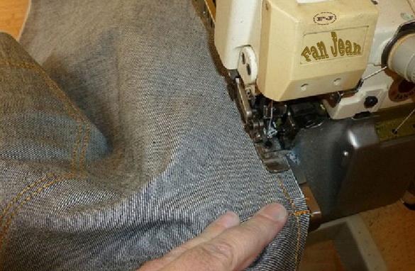 шаговые швы джинсов