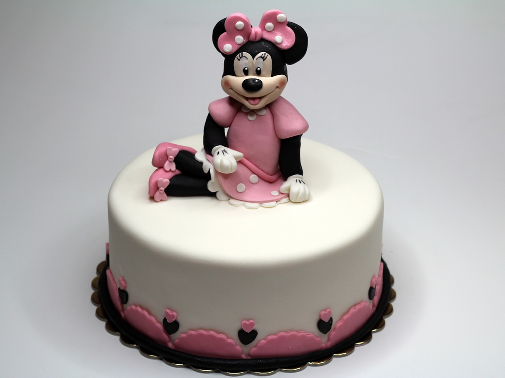 Minnie Mouse Birthday Cake for Girl - Epsom, Surrey UK