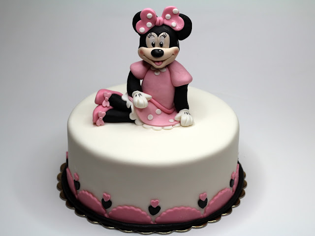 Minnie Mouse Birthday Cake for Girl - Epsom, Surrey UK
