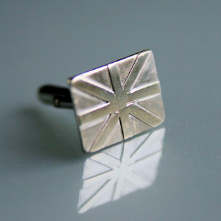Solid silver union jack cufflinks