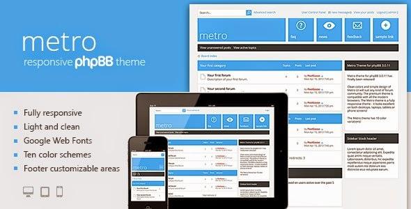 Metro — A Responsive Theme for phpB